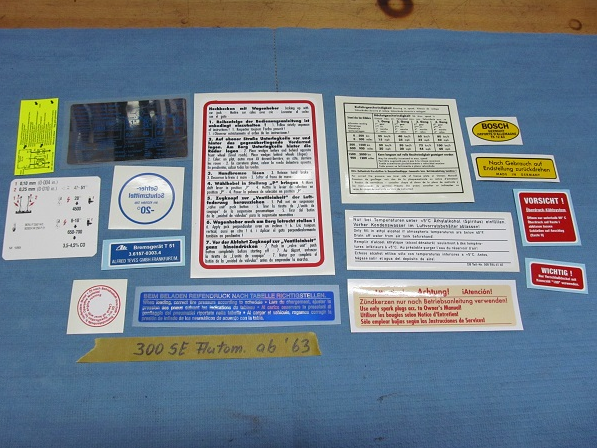 Sticker set for models from year 1963