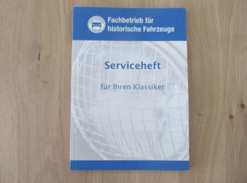 Service booklet for classic cars